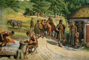 Poblado durante la edad del bronce