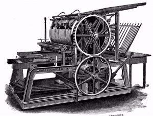 Una imprenta de la Edad Moderna
