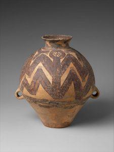 Ejemplo de un recipiente de cerámica del neolítico