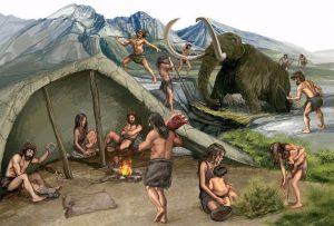 Grupo de humanos paleolíticos