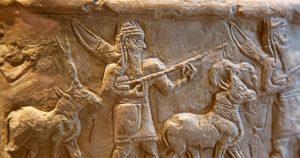 Grabado en piedra sumerio