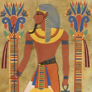 Representación de un faraón del antiguo Egipto